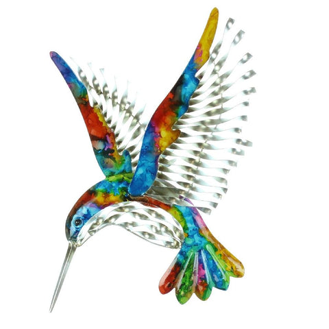 Handmade Painted Metal hummingbird