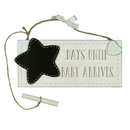 Petit Cheri Chalkboard 'Waiting For Baby' - Blue