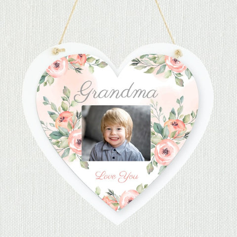 Creation Express Personalised Hanging Photo Plaque -Heart