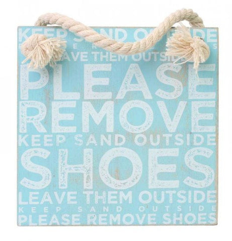 Splosh Seaside Shoes Hanging Sign