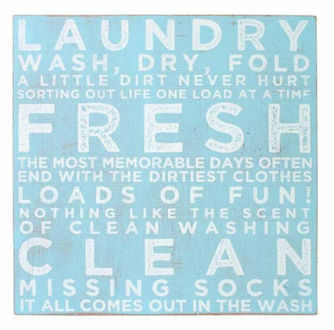 Splosh Seaside Laundry Sign 30x30