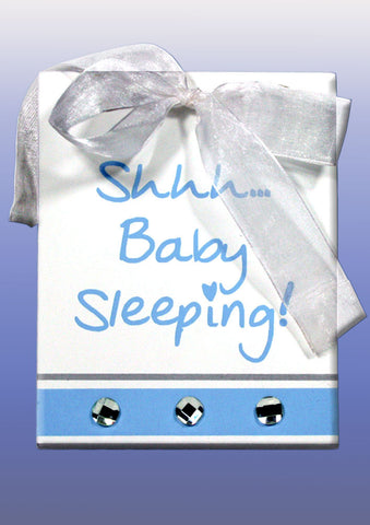 Splosh Baby Sleeping Sign - Blue