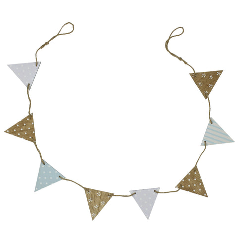 'Petit Cheri' Baby Collection MDF Bunting - Blue
