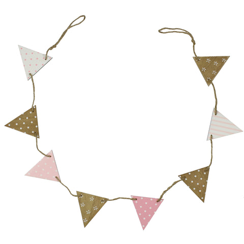 'Petit Cheri' Baby Collection MDF Bunting - Pink