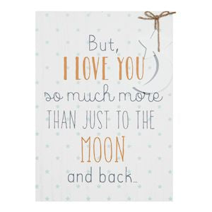 'Petit Cheri' Baby Collection- Large A3 MDF Plaque I Love You More