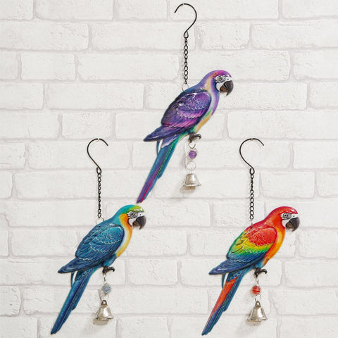 Hanging Metal Plaque Parrot