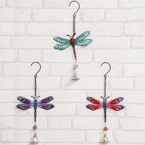 Hanging Metal Plaque Dragonfly