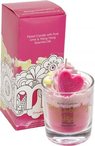 Bomb Cosmetics Piped Candle - Strawberry Daiguiri