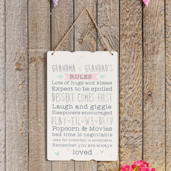 Love Life Rectangle Plaque - Grandma & Grandad's