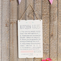 Love Life Rectangle Plaque - Kitchen Rules