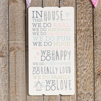 Love Life Rectangle Plaque - In This House