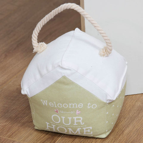 Life Door Stop With Rope Handles - Welcome To Our Home