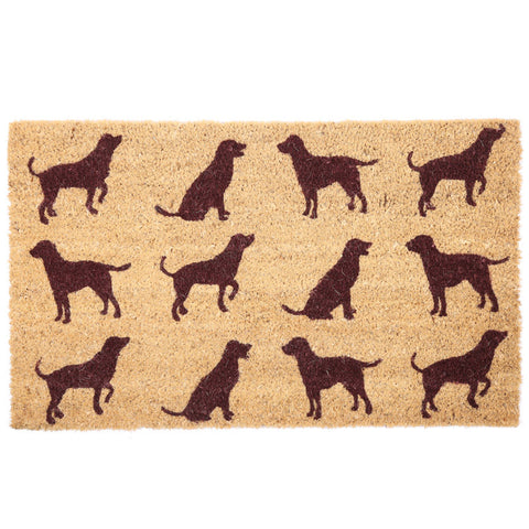 Coir Door Mat - Dog Silhouette