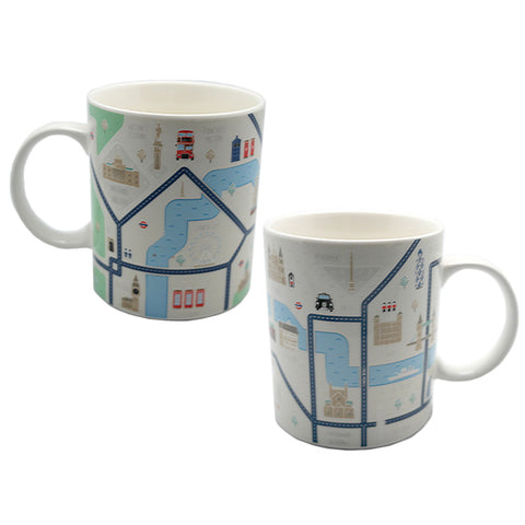 London Map Design Bone China Mug