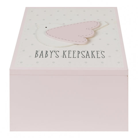 'Petit Cheri' Baby Collection MDF My Special Keepsake Box Pink