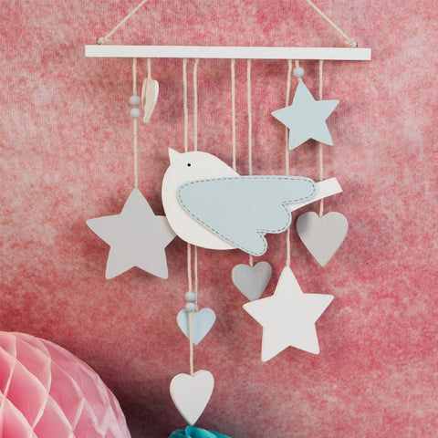 'Petit Cheri' Baby Collection MDF Bird Mobile Blue