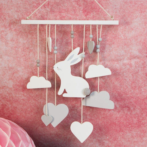 'Petit Cheri' Baby Collection MDF bunny Mobile Grey