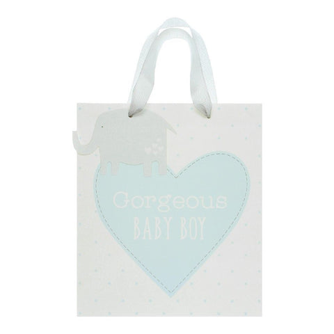 "Petit Cheri ""Gorgeous Baby Boy"" Medium Gift Bag"