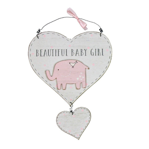 'Petit Cheri' Heart Plaque - Beautiful Baby Girl