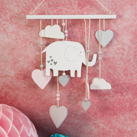'Petit Cheri' Baby Collection MDF Elephant Mobile Pink