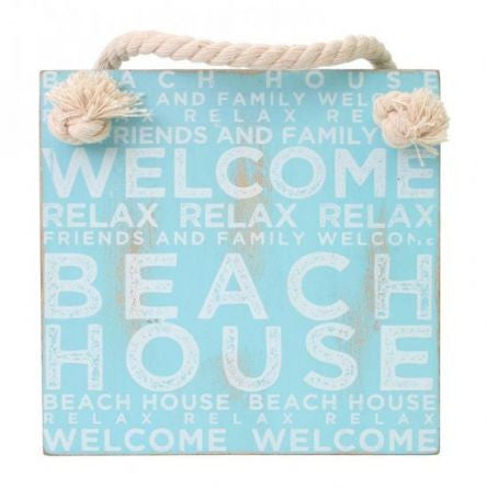 Splosh Seaside Beach House Hanging Sign