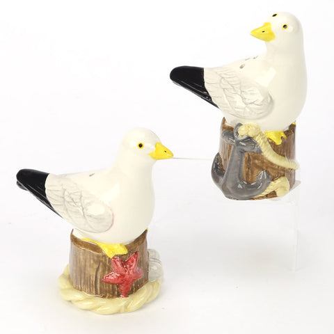 Seagull Ceramic Salt & Pepper Set