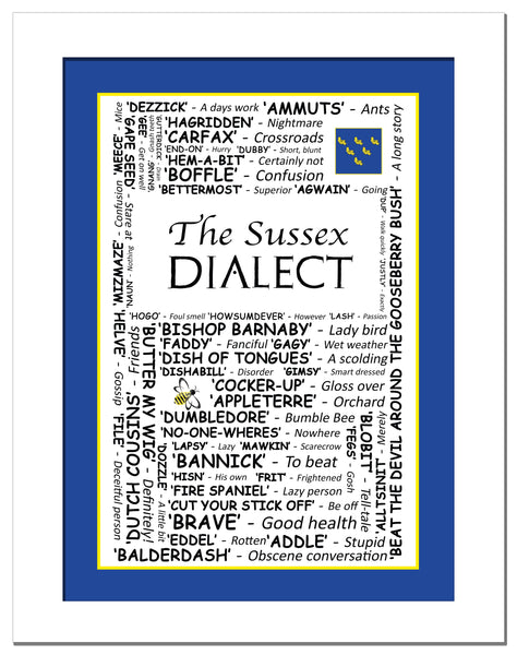 The Sussex Dialect - Art Print Poster