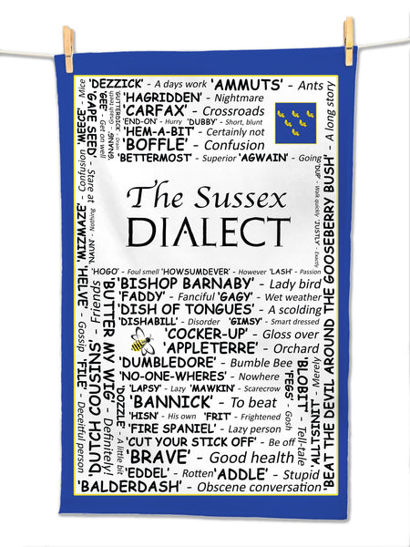 The Sussex Dialect - Tea Towel