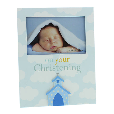 Juliana Photo Frame - Christening Boy