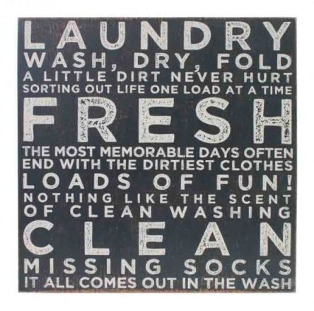 Splosh Vintage Laundry Sign 30 Square