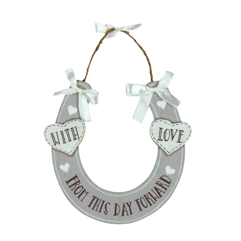 Love Story MDF Horseshoe 'From This Day Forward'