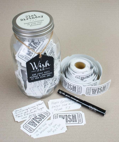 Splosh 21st Birthday Wish Jar