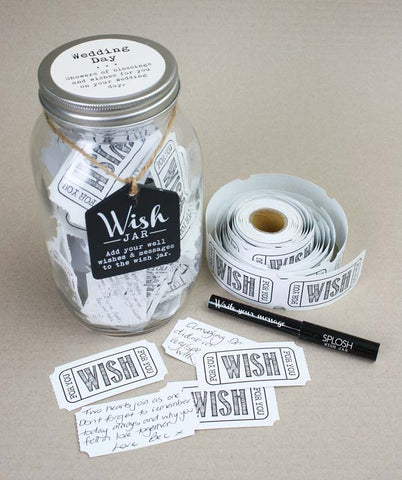 Splosh Wedding Day Wish Jar