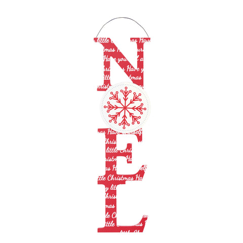 Merry & Bright Christmas Coll Cut Out Plaque Noel