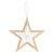 Burlap Christmas Collection Hanging Star Decoration