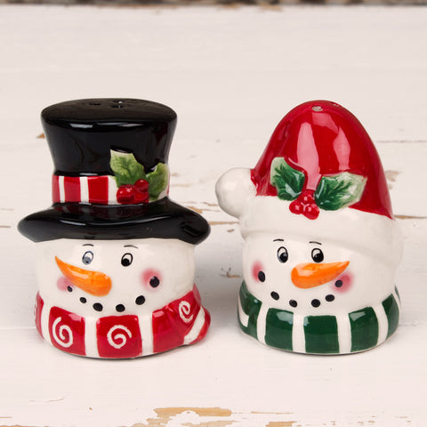 Mr & Mrs Snowman Salt & Pepper Set