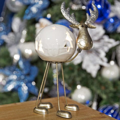 White Ceramic Reindeer