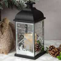 Metal Lantern with LED Candle - Silent Night