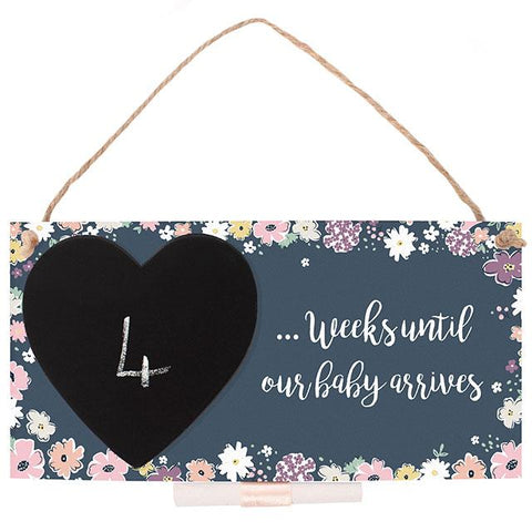 Baby Countdown Hanging Sign
