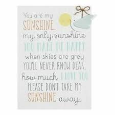 'Petit Cheri' Baby Collection- Large A3 MDF Plaque You Are My Sushine