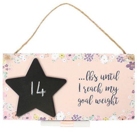 Weight Loss Countdown Hanging Sign