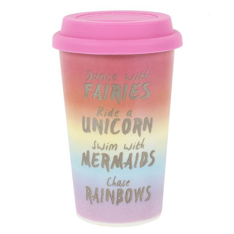 Rainbow Thermal Ceramic Travel Mug