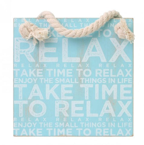 Splosh Seaside Relax Hanging Sign