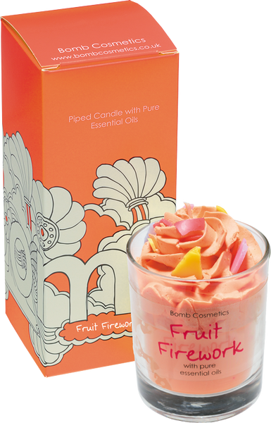 Bomb Cosmetics Piped Candle - Fruit Firework