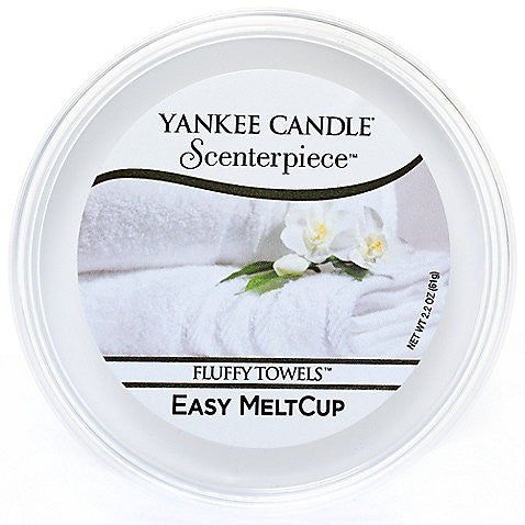 Yankee Candle Fluffy Towels Scenterpiece Easy Wax MeltCup