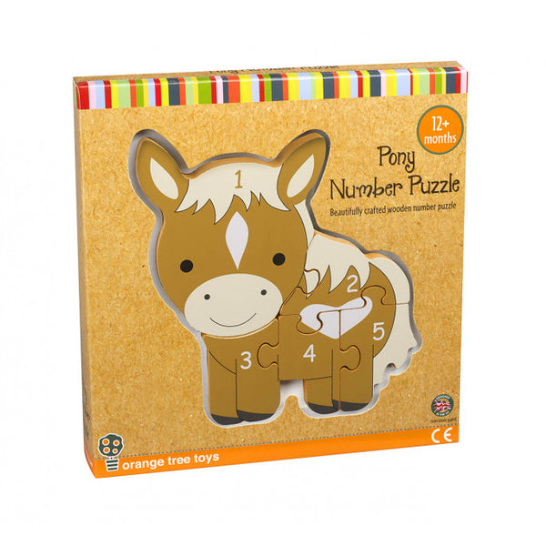 Orange Tree Toys Pony Number Puzzle