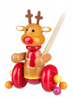 Orange Tree Toys Reindeer Push Along