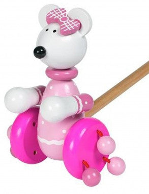 Orange Tree Toys Pink Mouse Push Along
