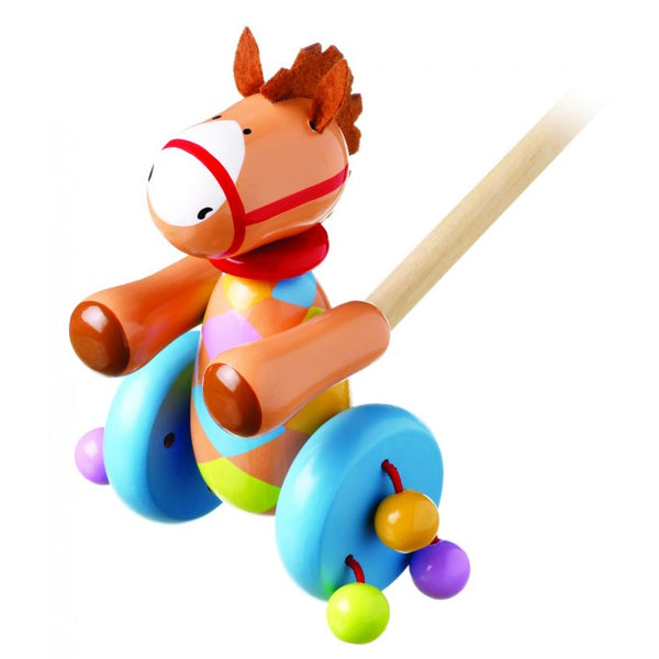 Orange Tree Toys Pony Push Along