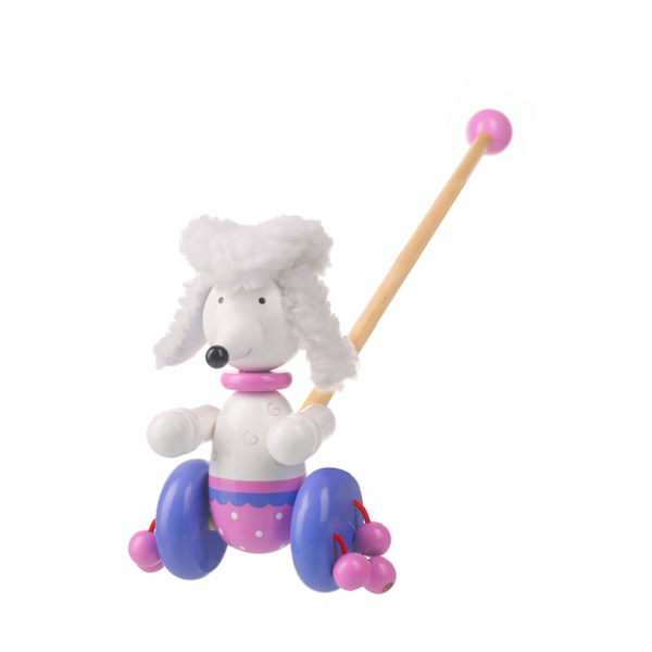 Orange Tree Toys Pom Pom The Poodle Push Along
